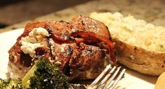 Bacon Wrapped venison fillets stuffed with jalapenos and cream cheese