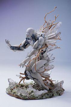 El artista americano Garret Kane combina elementos naturales y tecnología digital para crear voluptuosas esculturas únicas.