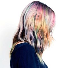 "This new hair trend is bumping rainbow hair color off the ""hot' list. Rainbow hair color is so last season and in its place, a subtle hair color trend is emerging. New Hair Color Trends, New Hair Colors, Hair Trends, Opal Hair, Pixie, Gorgeous Hair, Beautiful, Unicorn Hair, Rainbow Hair"