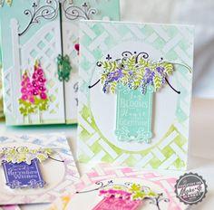 Joy Blooms Card by Betsy Veldman for Papertrey Ink (July 2016)