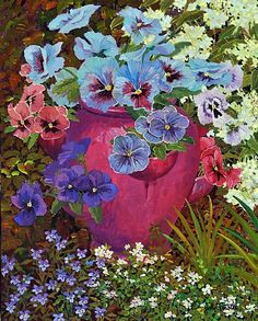 Pansy Pot by John Powell ~ 20 x 16
