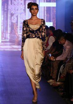 Buy Beige And Black Color Dhoti Dress by Akanksha Singh at Fresh Look Fashion Indian Attire, Indian Wear, Look Fashion, Indian Fashion, Fashion Ideas, Indian Bridal Week, Priyanka Chopra Saree, Shyamal And Bhumika, Bollywood Lehenga