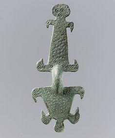 Bow Brooch  Date: 550–600 Culture: Visigothic Medium: Copper alloy, quaternary