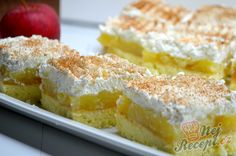 Luxury on a saucer - Apple slices with cream cheese NejRecept. Sweet Desserts, Sweet Recipes, Graham Crackers, Vanilla Cake, A Table, Sweet Tooth, Bakery, Cheesecake, Deserts