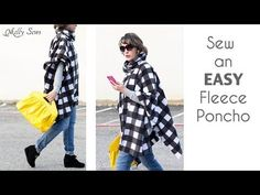 how to cut and sew poncho