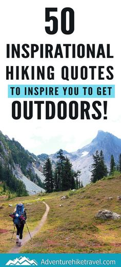 If you love hiking and exploring the outdoors but need some extra inspiration to set aside the never-ending to-do list, we have put together 50 Inspirational Hiking Quotes to Inspire You To Get Outdoors.#hiking #quotes #adventurequotes #inspirationalquotes #hike #hikingquotes Hiking Quotes, Travel Quotes, Franklin Falls, Winter Hiking, Get Outdoors, Adventure Quotes, Round Trip, Mountain Landscape, Wonders Of The World