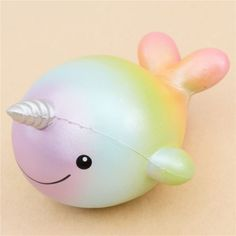 scented rainbow uniwhale squishy by Creamiicandy