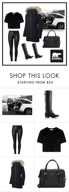 """Tame Winter with SOREL: Contest Entry"" by mirandarpu ❤ liked on Polyvore featuring SOREL, Kate Spade and sorelstyle"