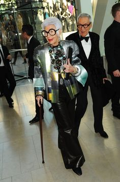 Iris Apfel is fashion. Apfel is an interior designer and a staple on the New York fashion scene.