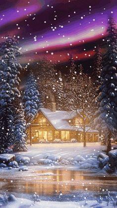 Invierno, nevando