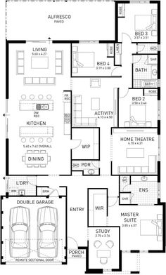 Exceptional Quality and Home Designs. Choose from our range of house designs or ask us to custom design for you. Best House Plans, Dream House Plans, Modern House Plans, Small House Plans, House Floor Plans, Big Houses, Little Houses, 4 Bedroom House Plans, House Rooms