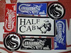 vintage Vans caballero skateboard stickers
