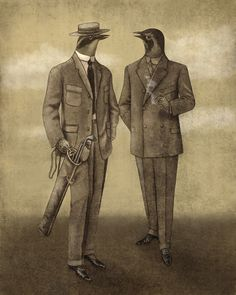 Birds in suits