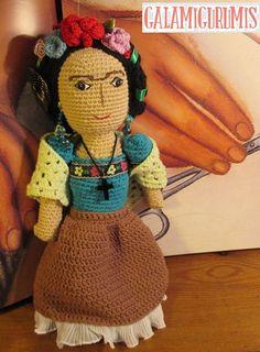 Frida Kahlo Amigurumi. Patrón Gratis
