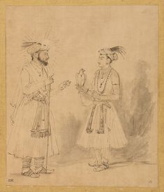 """Among the most surprising aspects of Rembrandt's prodigious output are twenty-three surviving drawings closely based on portraits made by artists working in Mughal India. """"Rembrandt and the Inspiration of India"""""""