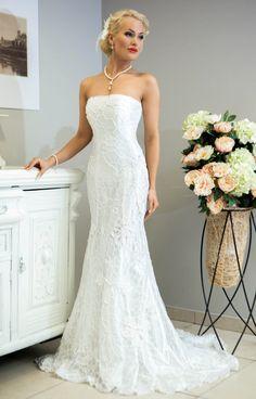 Crochet Wedding Dress | Miss Evita crochet wedding dress by LaimInga on Etsy