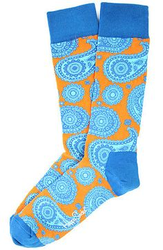 Happy Socks Paisley in Orange & Blue, QUINTA-FEIRA, 20-11-2014
