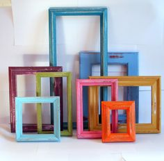 paint frames fun colors in a grouping.