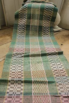 Vintage European RAG RUG carpet stair runner