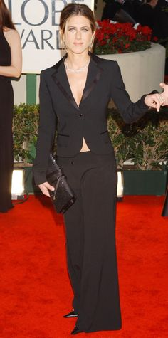 The First Time the 2015 Golden Globes Nominees Hit the Red Carpet - Jennifer Aniston, 2002 from #InStyle