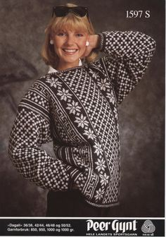 Knitting Charts, Knitting Patterns, Norwegian Knitting, Nordic Sweater, Fair Isle Knitting, Drops Design, Cool Sweaters, Vintage Knitting, Color Patterns