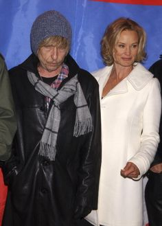 Composer / actor Bob Dylan and Jessica Lange during 2003 Sundance Film Festival 'Masked and Anonymous' Photo Call at Blind Dog in Park City Utah...
