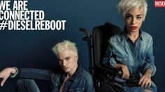 woman with muscular dystrophy Jillian Mercado among the stars of Diesel campaign
