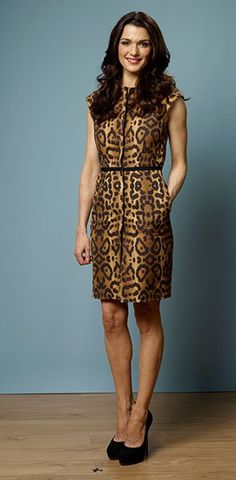 Rachel Weisz in leopard shift dress. Hot.