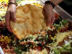 50-Layer Dip Video : Food Network - FoodNetwork.com. I HAVE to do this....if a guest makes it all the way thru scooping their large chip w/o breaking it....TOUCHDOWN!!!