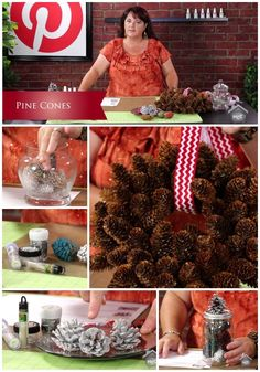 Who would have thought you could color, tint or glitter pinecones in so  many ways? In today's Inspired by Pinterest  episode Crafting wit...