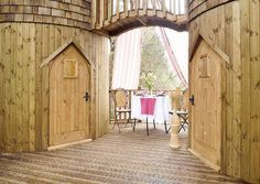 interior castle treehouse