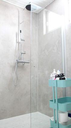 Mikrosementti kylpyhuoneessa // ennen ja jälkeen - Marulla