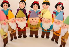 fabulous felt snow white characters