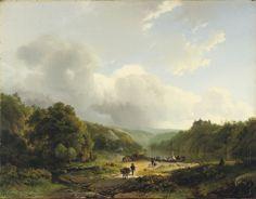 Barend Cornelis Koekkoek - A Summer Landscape with Travellers on a Path (1826)