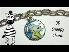 3D Snoopy Charm Acrylic Nail Art Tutorial
