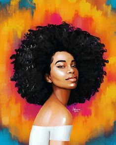 🎨Artist @delmainedonson_art So bright and pretty 😊 #melanin