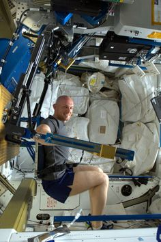 Exercise time on the ISS.