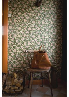 I secretly love wallpaper (always have) even though it's been officially out of style for a very long time.