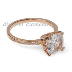 1.00 Ct Cushion Diamond Solid 14k Rose Gold Solitaire Engagement Ring Certified #discoverdiamond #Solitaire #Engagement