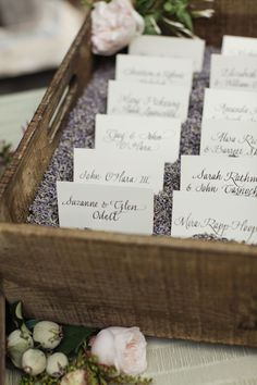 lavender escort card display
