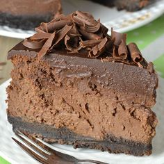 Decadent Triple Chocolate Cheesecake with Oreo Crust