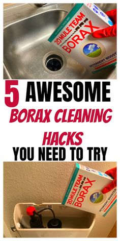 Borax Cleaning, Diy Home Cleaning, Household Cleaning Tips, House Cleaning Tips, Cleaning Hacks, Bathroom Cleaning, Diy Cleaners, Cleaners Homemade, Borax Uses