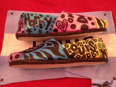 One Direction Toms by:  Karen Laughlin