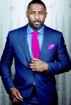 What Will Catch My Eye — Idris Elba photographed by James DImmock Gorgeous Black Men, Handsome Black Men, Beautiful Men, Sharp Dressed Man, Well Dressed Men, Par Ideal, Idris Elba, Suit And Tie, Fine Men