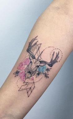 coolTop Women Tattoo - Cool deer design by Baris Yesilbas...