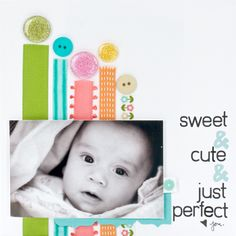 scrapbook page Baby or birthday with candles