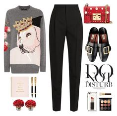 """Ootd"" by yexyka ❤ liked on Polyvore featuring Dolce&Gabbana, Yves Saint Laurent, Gucci, Anja, The French Bee, Kate Spade, Olympia, MAC Cosmetics and Tom Ford"