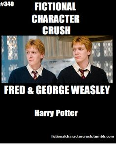 Yes yes yes yes yes!!!!!! :D I love them so much!!!! Favorite characters in the whole series. Both books and movies.