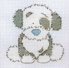 Free Counted Cross Stitch Charts | Fluffy - Counted Cross Stitch Kit from Tatty Teddy Collection of Blue ...