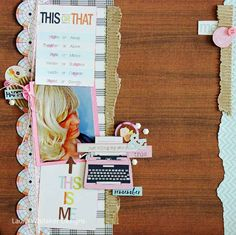 Scrappin' Around the Clock: layouts